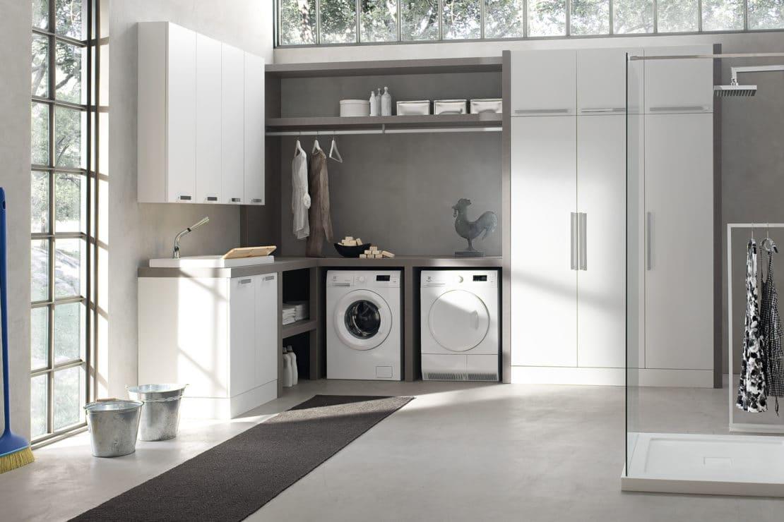 Colonna Per Lavatrice E Asciugatrice mobili lavanderia: collezione w&d - arcom bagno