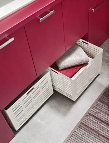 Contenitori estraibili in metallo per lavanderia